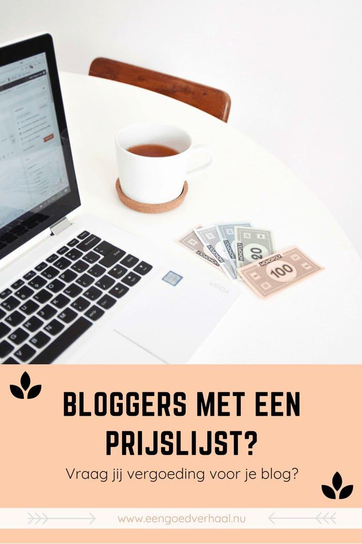 prijslijst bloggers