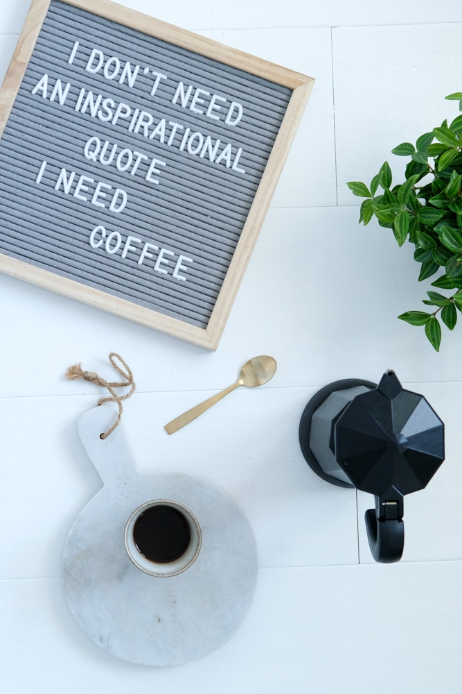 koffie quotes letterbord lightbox