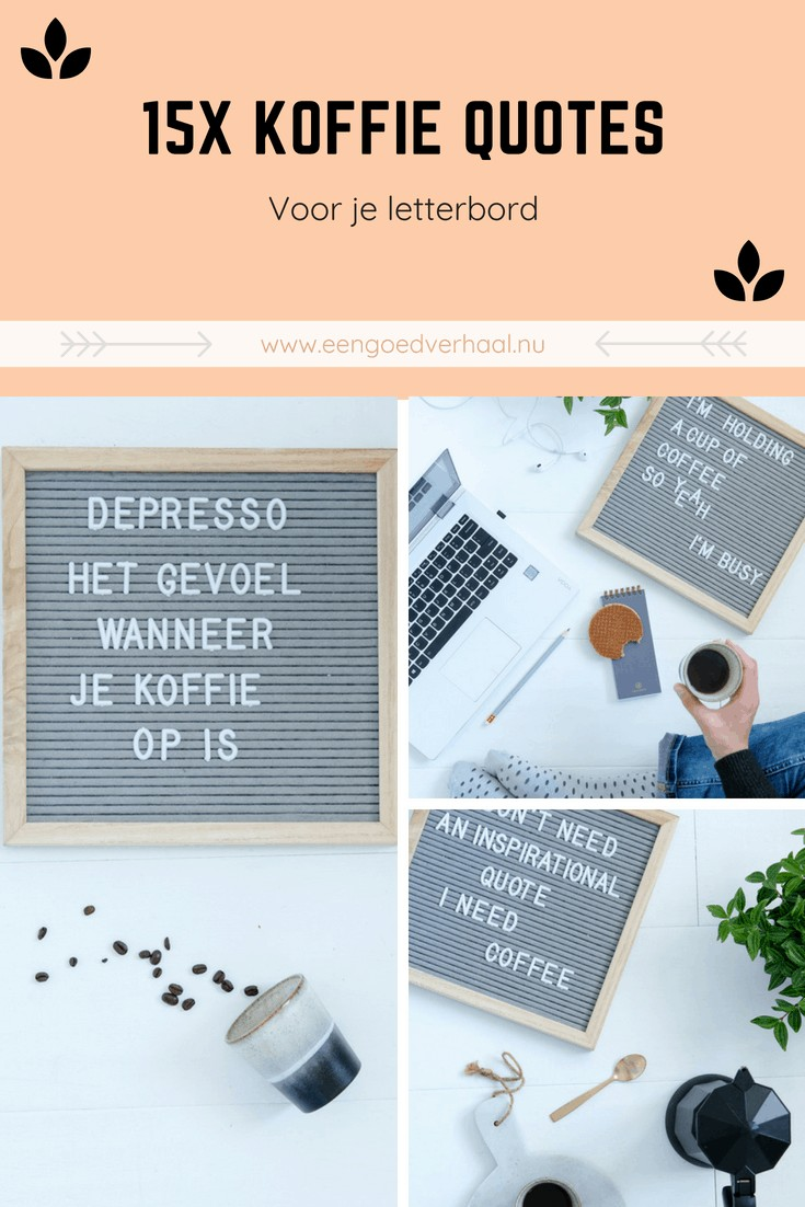 koffie quotes letterbord