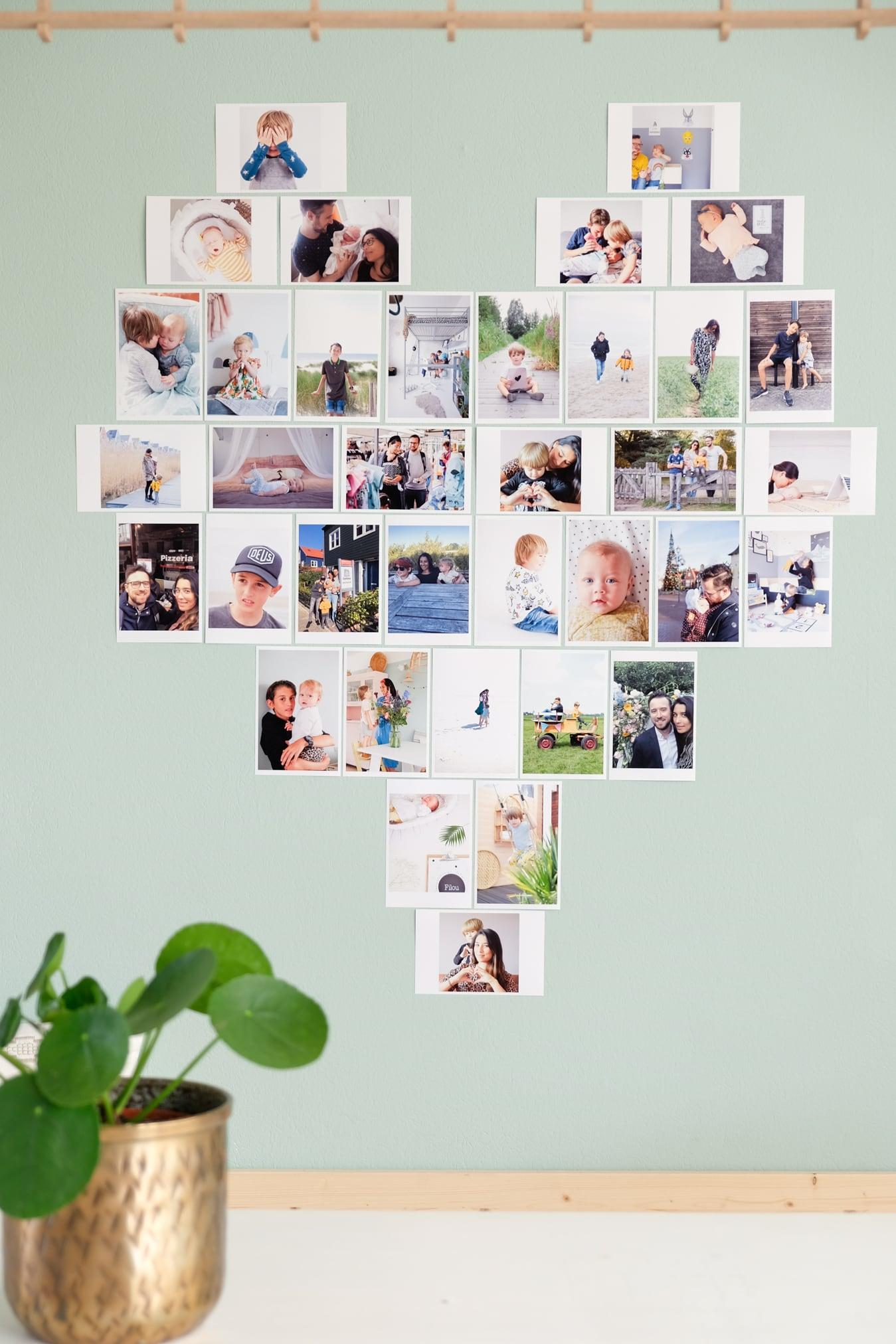 hart van foto's op de muur