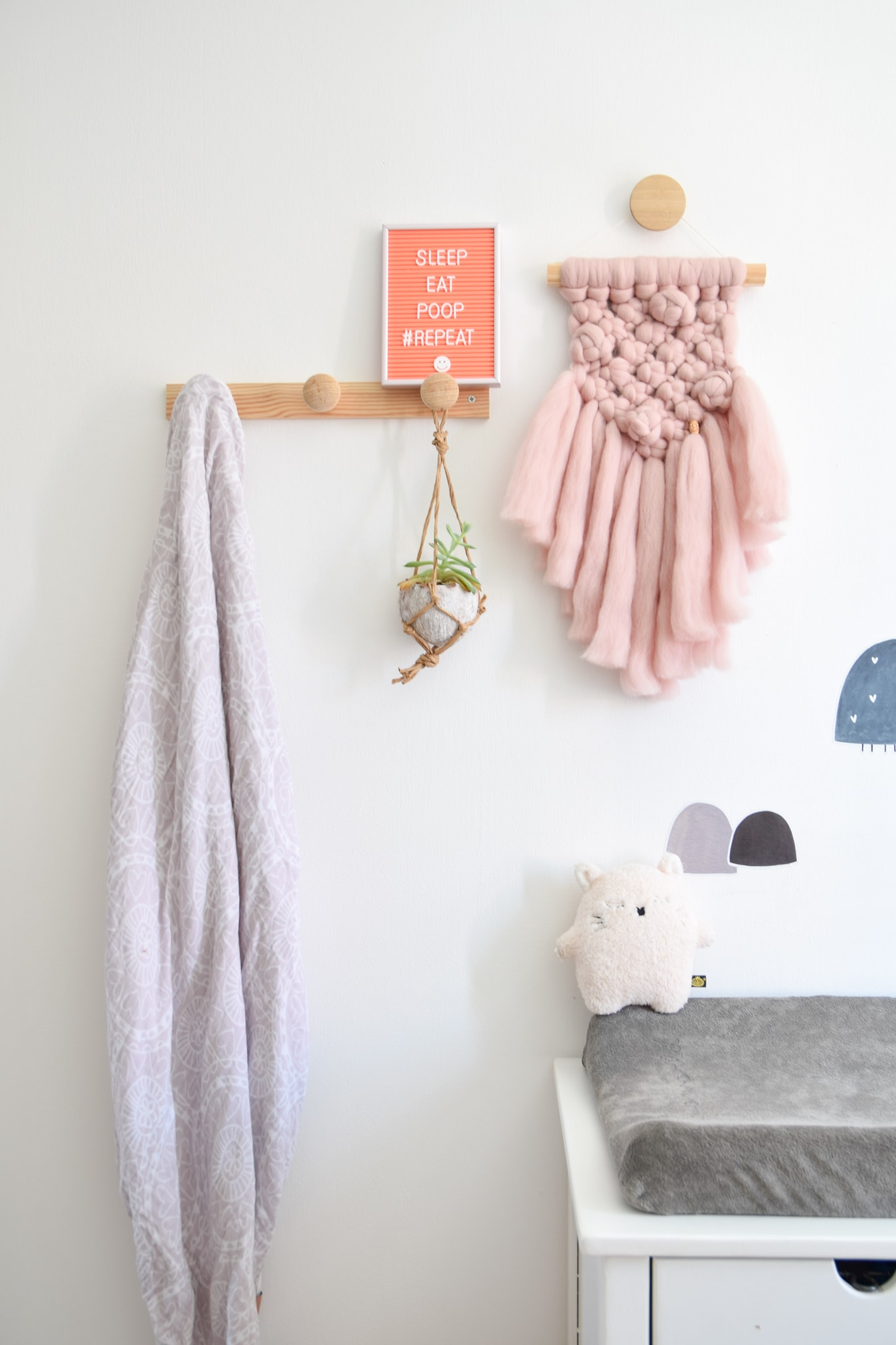 letterbord quotes babykamer