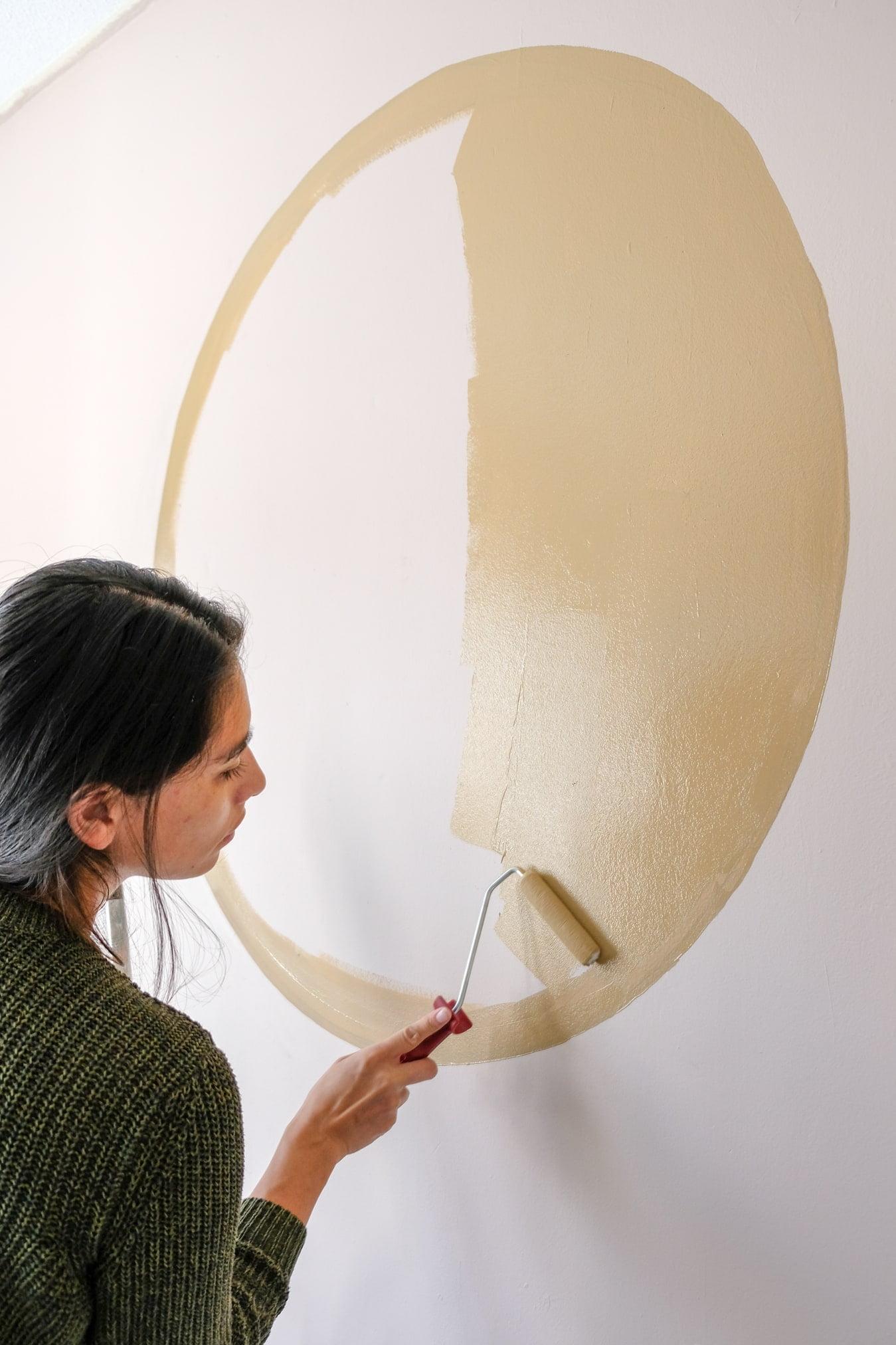 cirkel op de muur verven