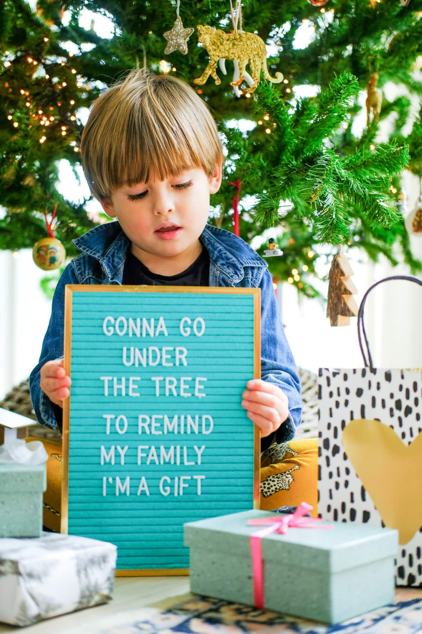 december tekst letterbord winnen