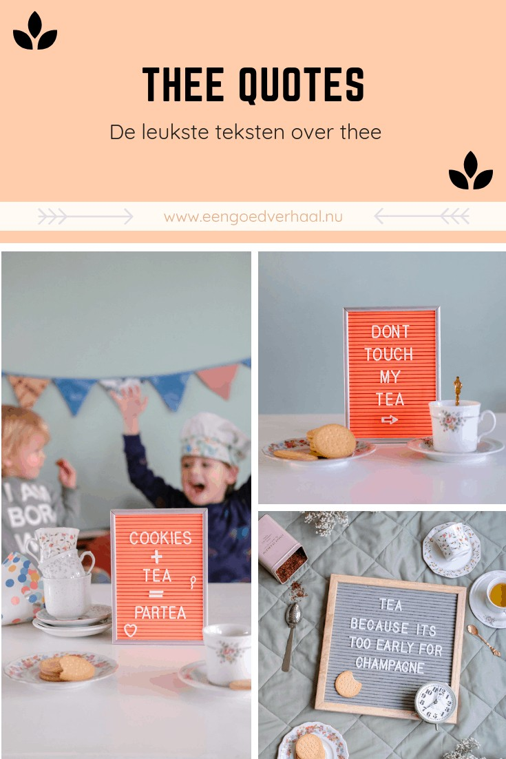 grappige thee quotes voor je letterbord
