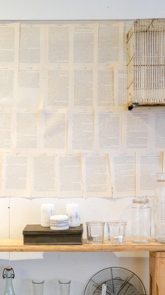 behang oud papier