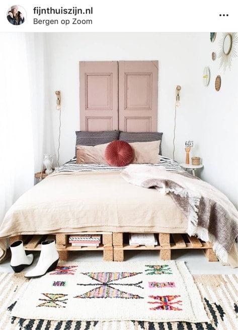 boho slaapkamer op instagram