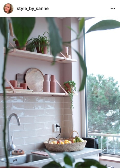 roze keuken op instagram