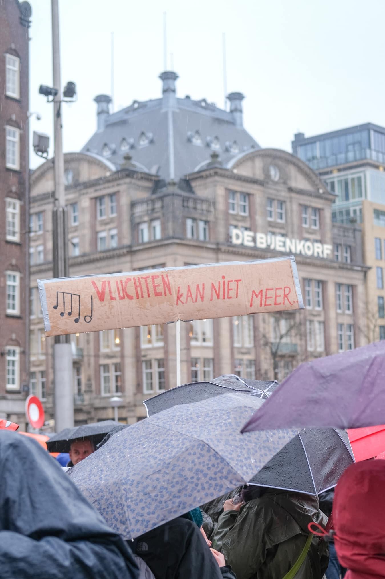 protestbord klimaat amsterdam