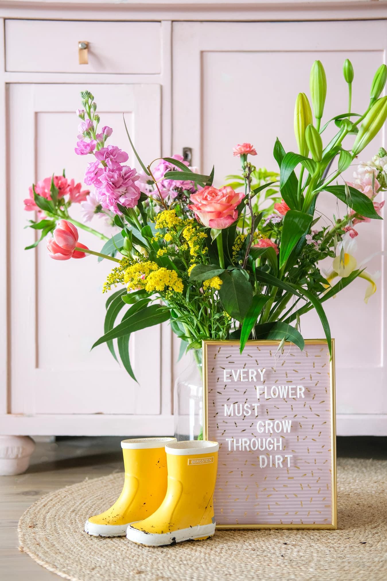inspiratie letterbord teksten bloemen