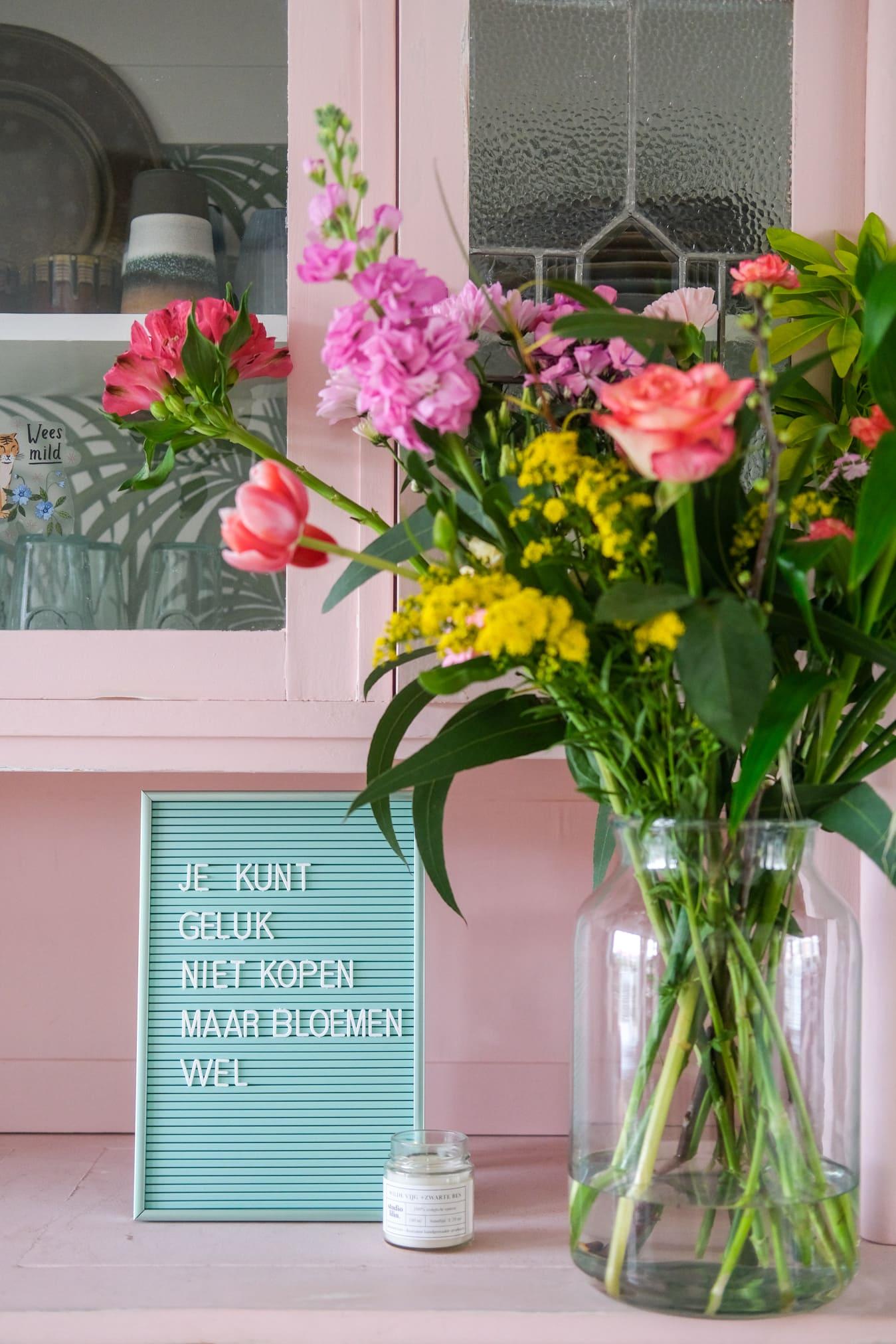 nederlandse citaten bloemen letterbord
