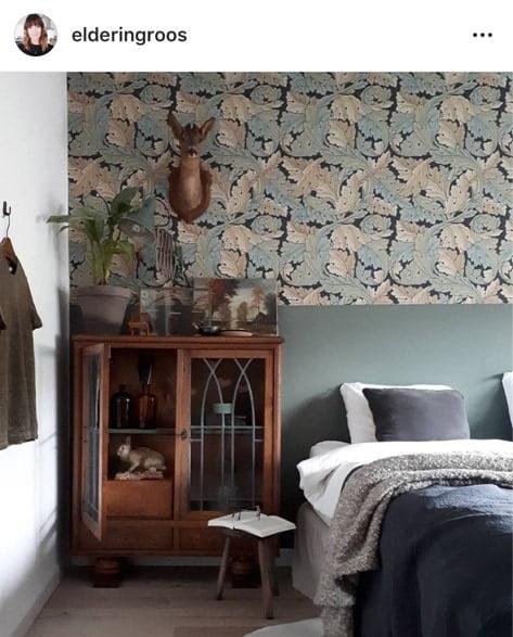 behang slaapkamer elderingroos op instagram