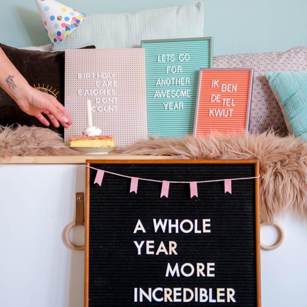 verjaardag quotes letterbord