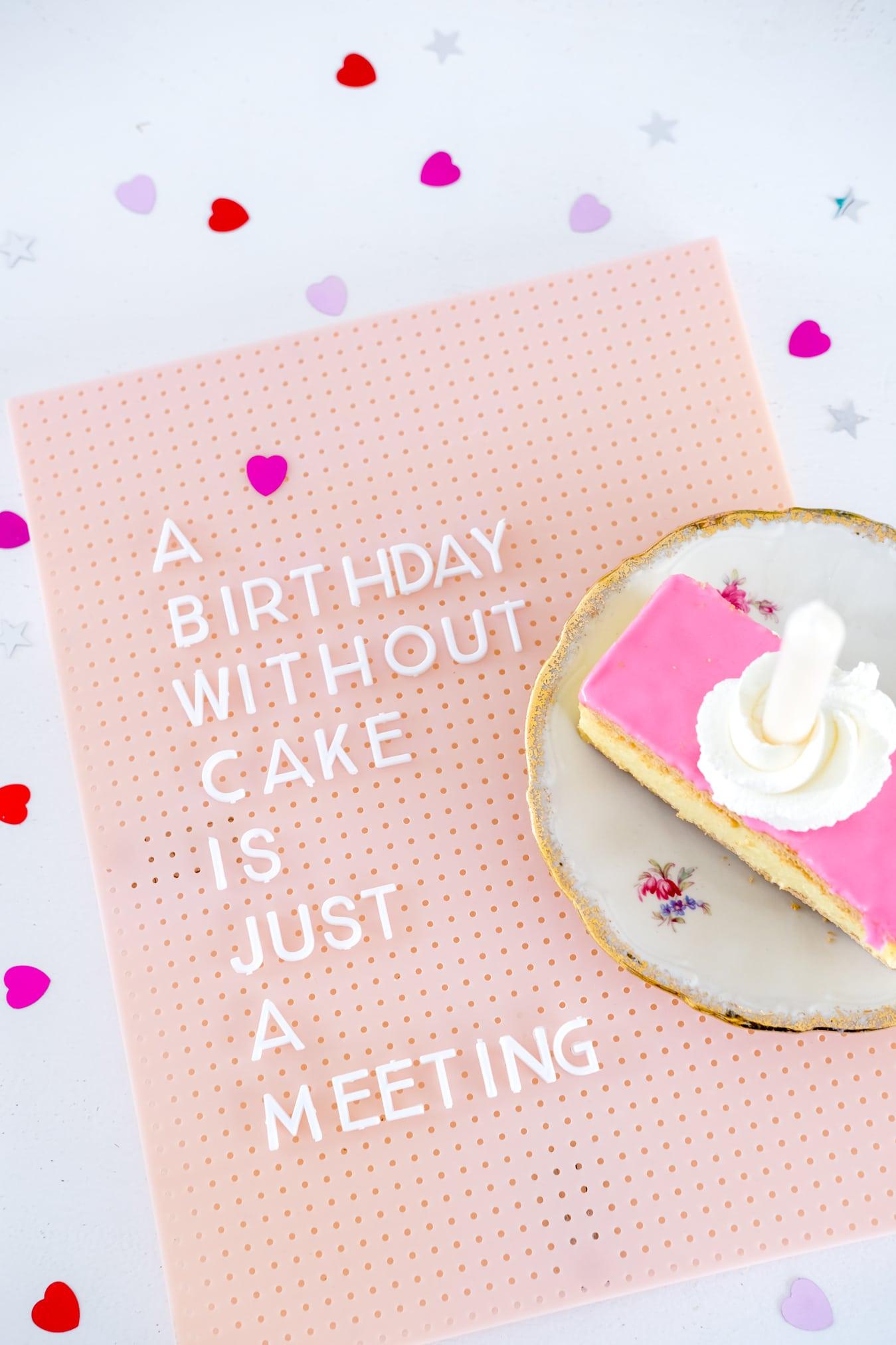 quote verjaardagstaart letterbord