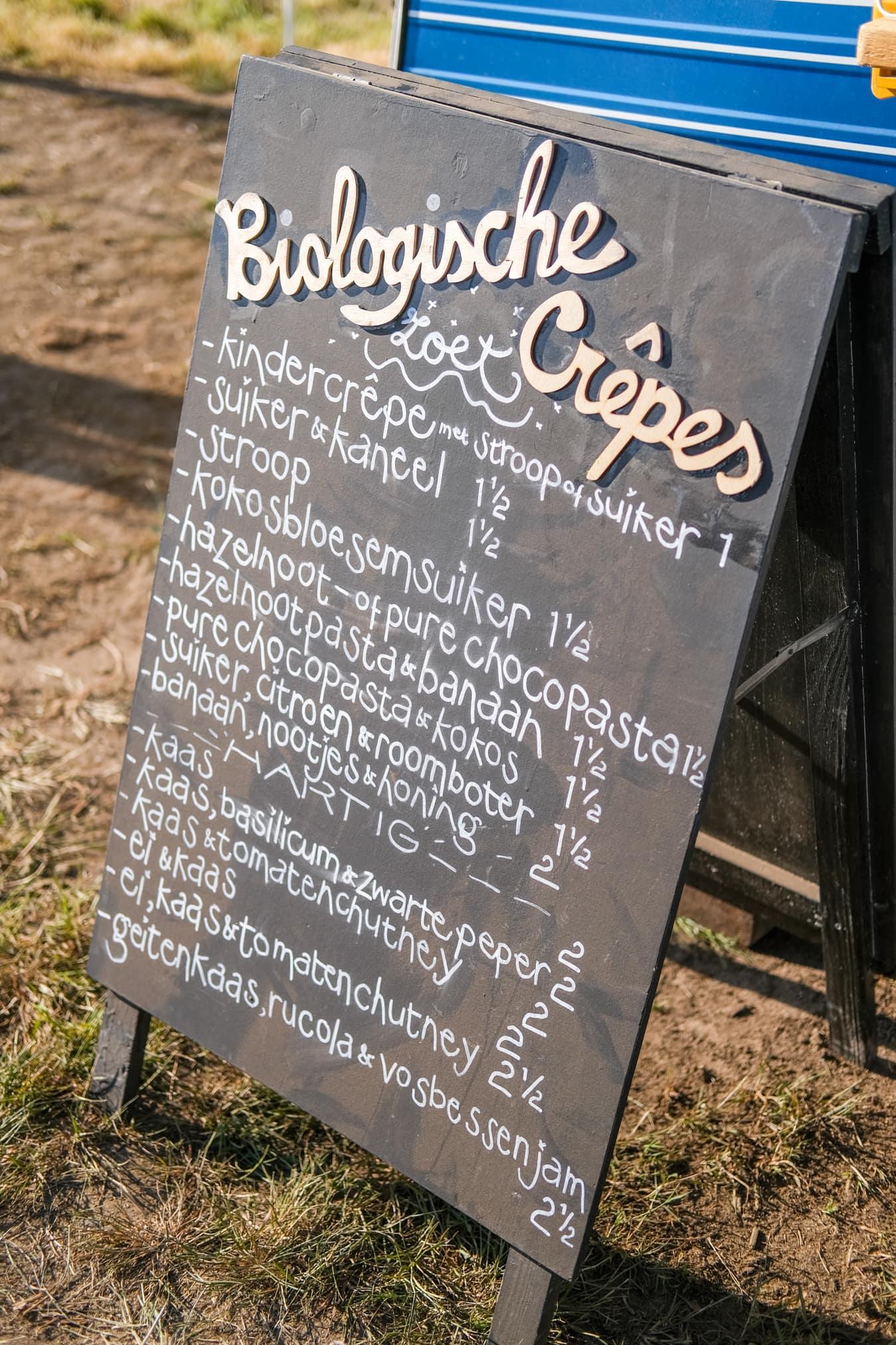 biologisch eten op festivals
