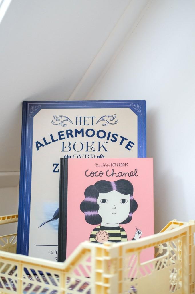 kinderboeken opbergen in slaapkamer