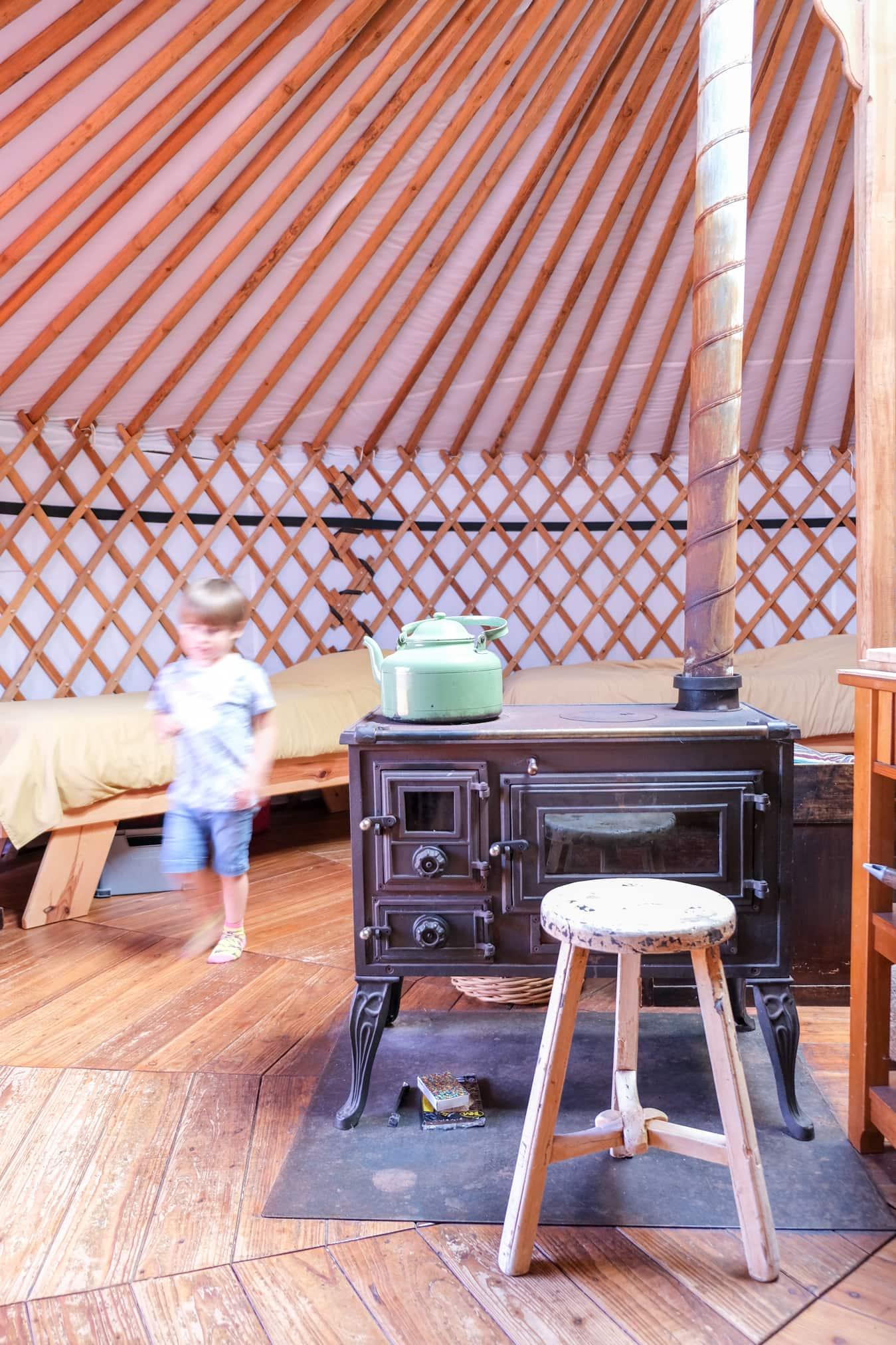 koken in een yurt