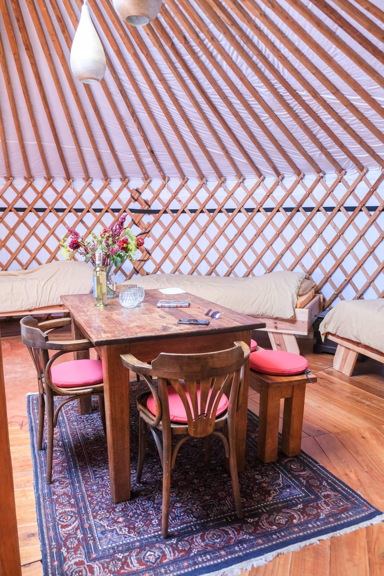eten met kinderen yurt
