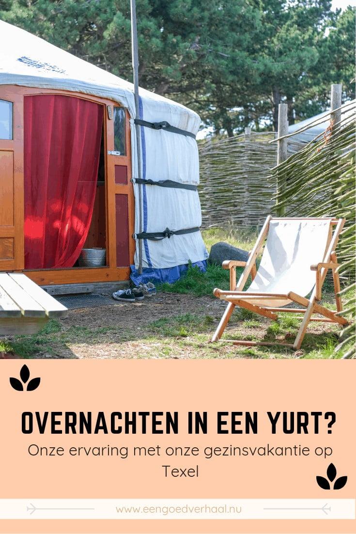 bijzonder overnachten in een yurt op texel met kinderen
