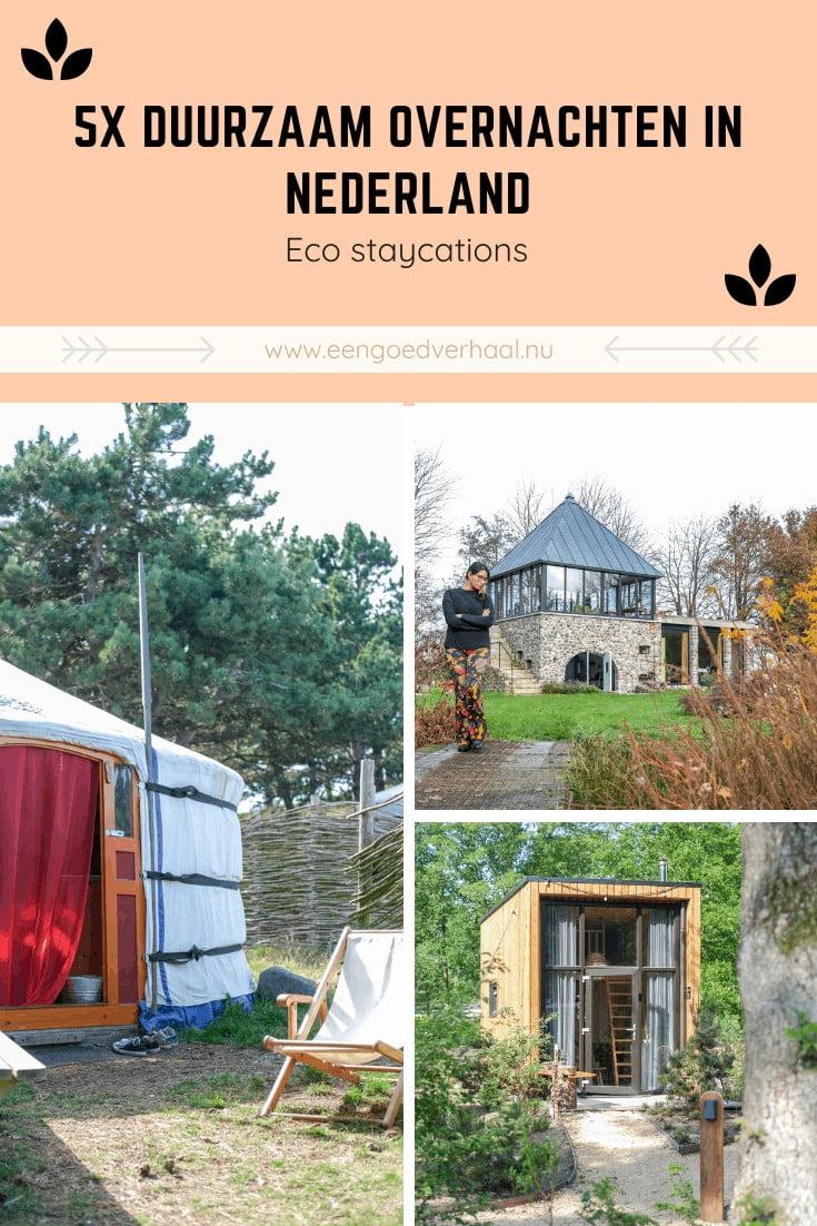 ecologisch overnachten holland