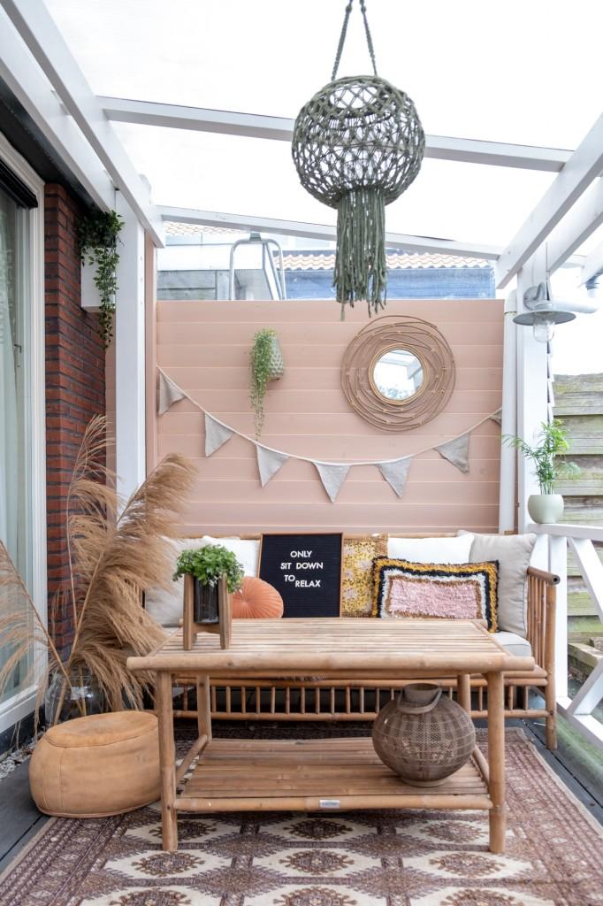 teksten balkon overkapping veranda