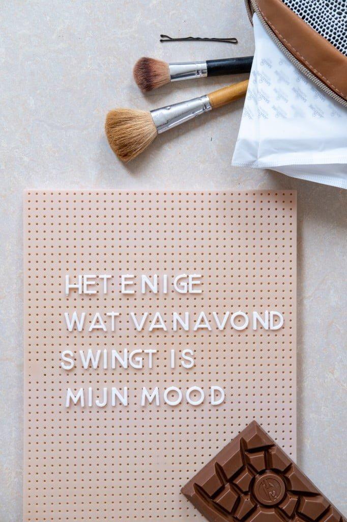 quote menstruatie letterbord