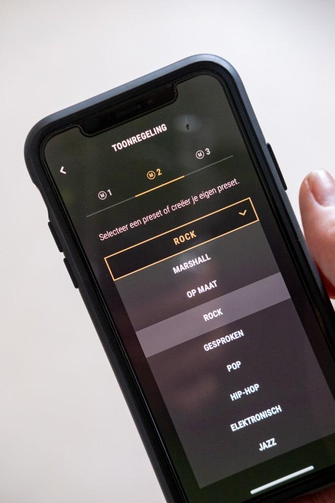 marshall koptelefoon app