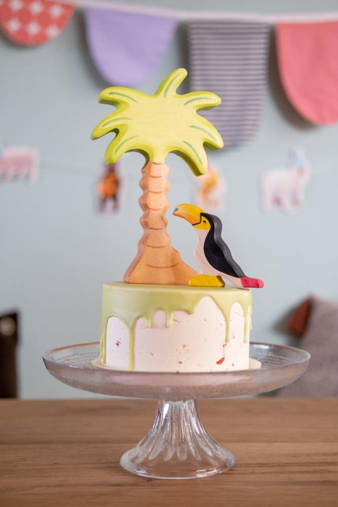 dripcake decoratie jungle taart
