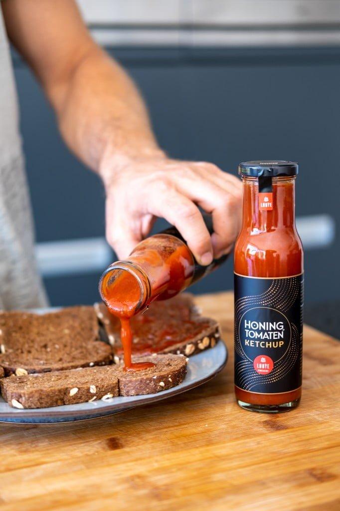 Honingtomaten ketchup