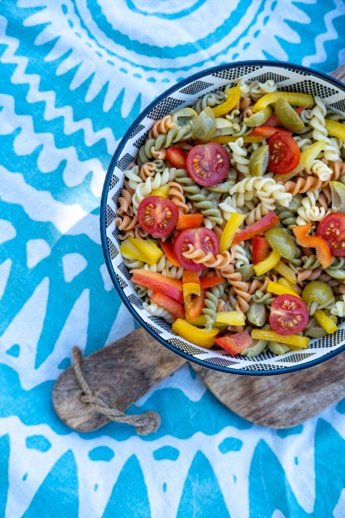 koude pastasalade recept