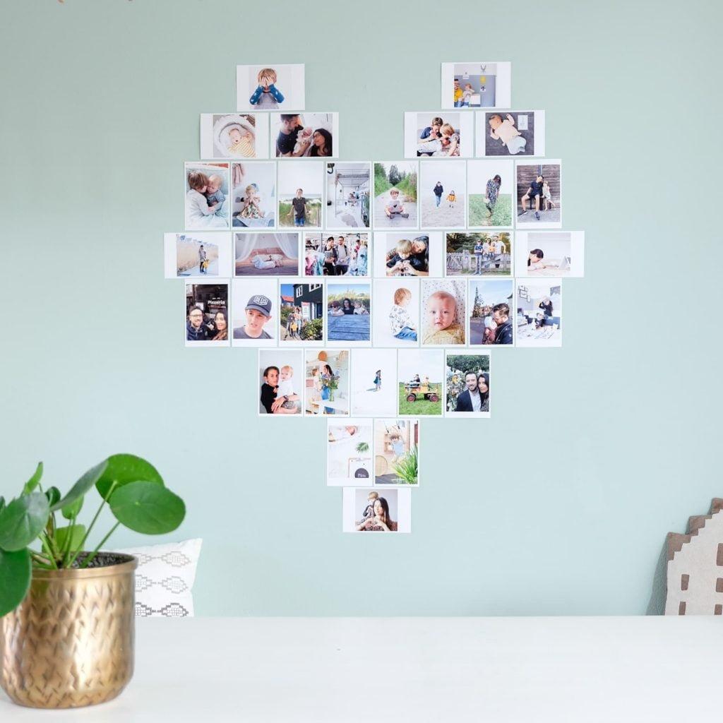 foto's in huis ophangen zonder fotolijst