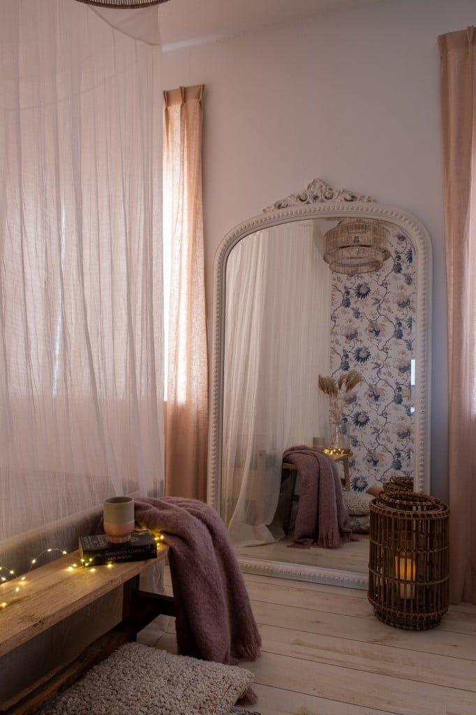 slaapkamer wintersfeer bedtent