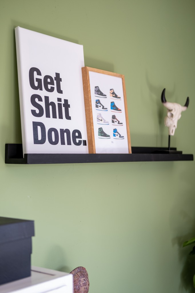 get shit done canvas poster