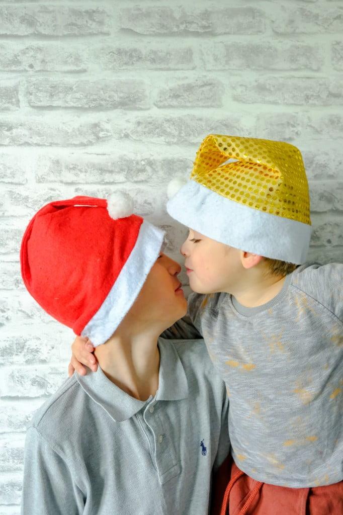 broertjes kerstmis foto idee