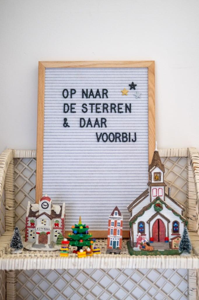 kerstdorpje letterbord