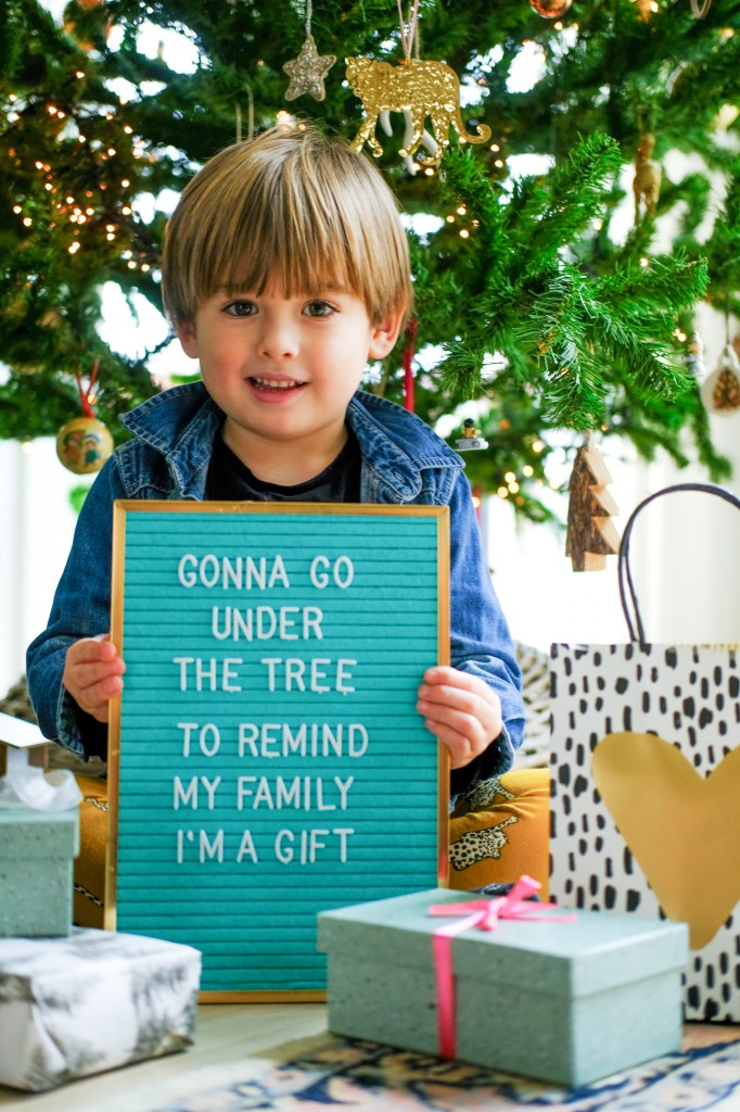 kerst quote letterbord kind