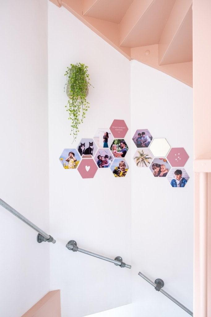hexagon foto's om de hoek