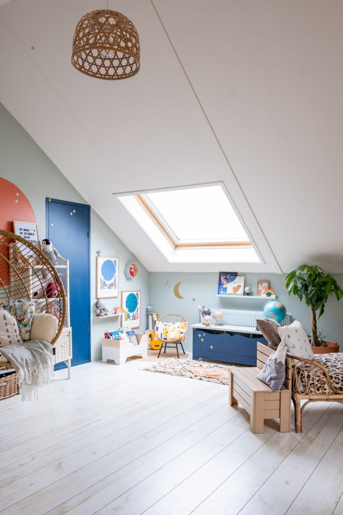 speelkamer voor kinderen op zolder
