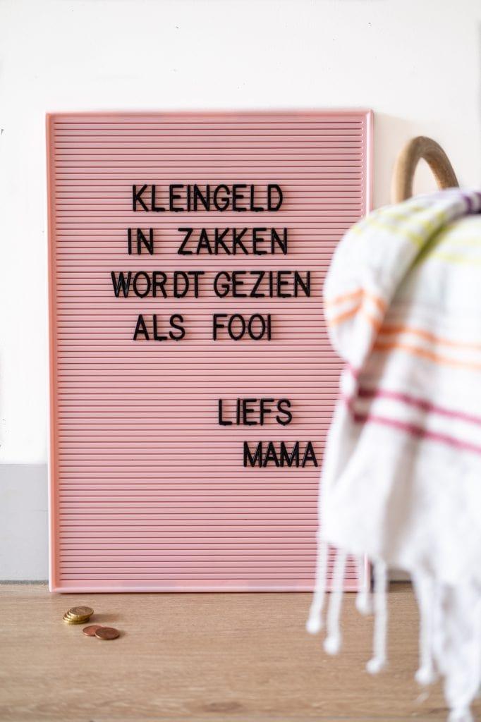 letterbord tekst nederlands wassen