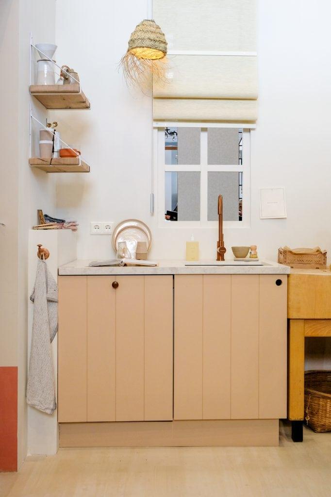 massief hout in de keuken