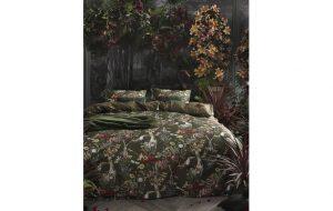 dekbedovertrek met exotische bloemprint