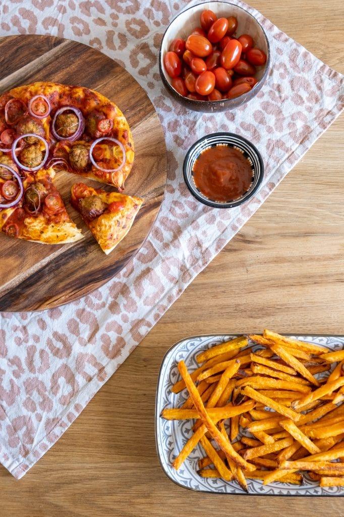 pizza's zelf maken met kinderen