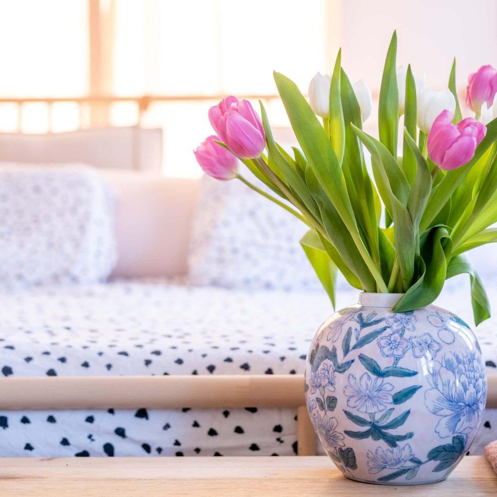 interieurtrend beddengoed met bloemprint
