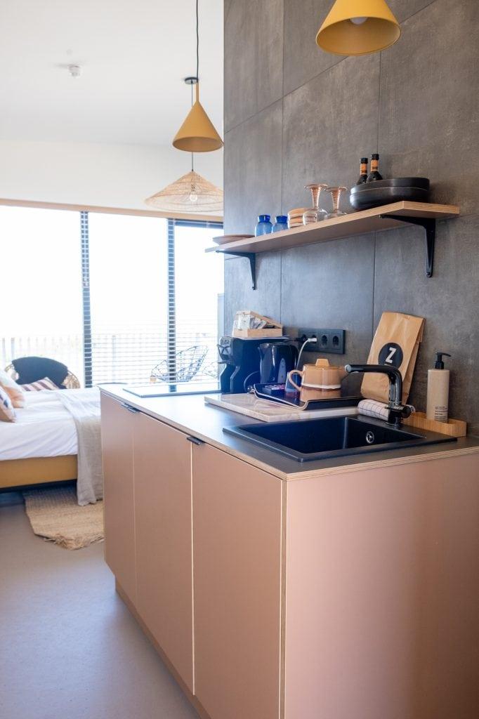keuken in hotel Castricum