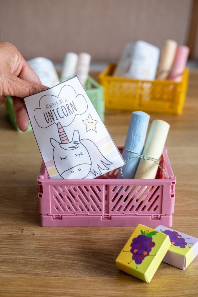verpakte unicorn traktatie kinderdagverblijf