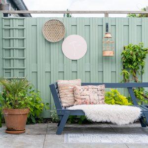 groene schutting tuin