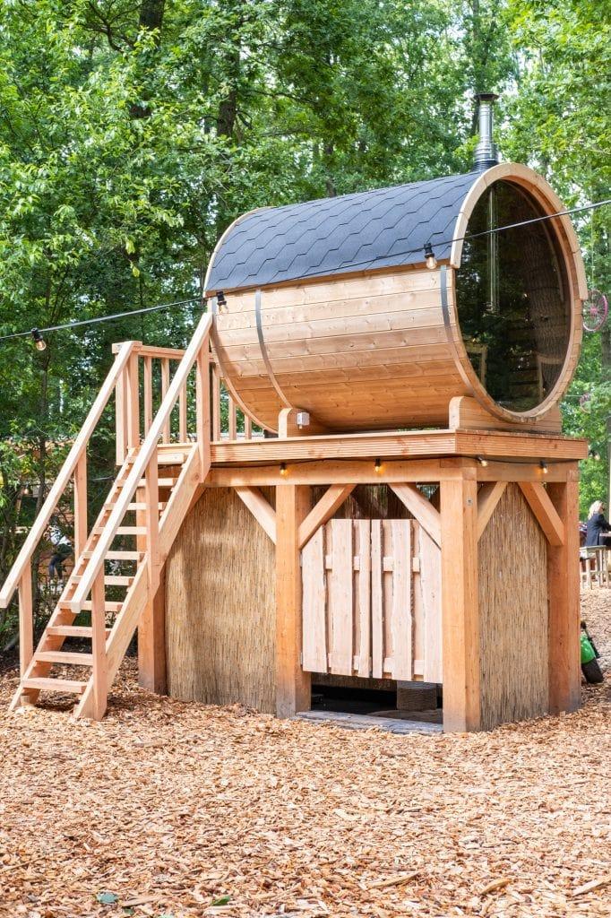 sauna bij tiny house drenthe