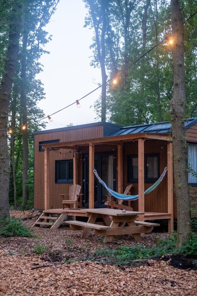 tinyhouse met hangmat