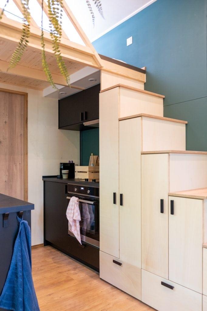 tiny house vakantie keuken
