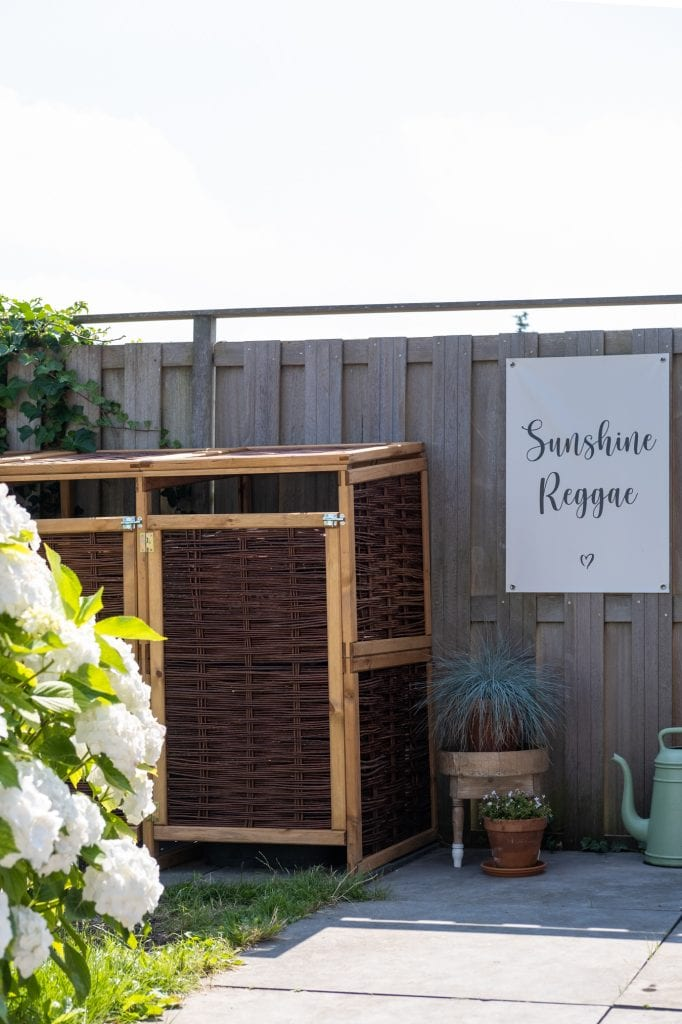 houten container ombouw tuin