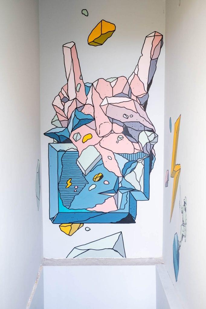 wall art student hotel